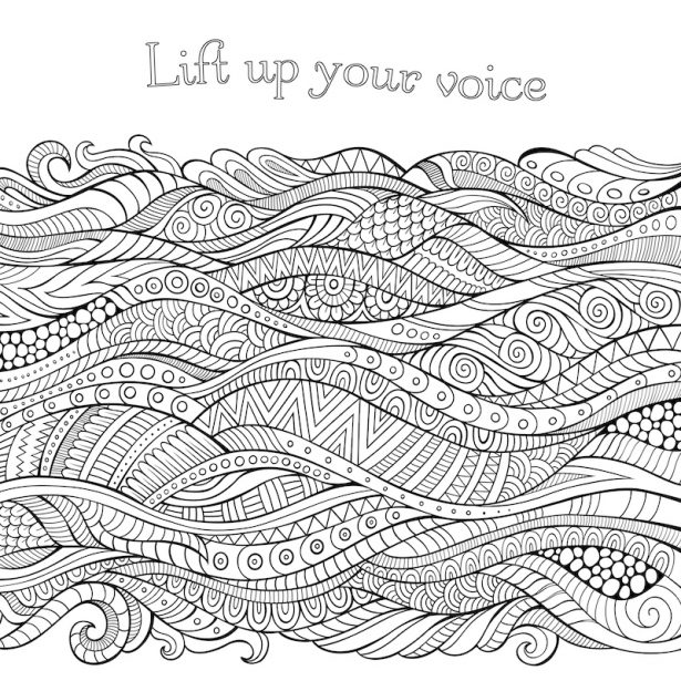 Free coloring sheet from All Creatures of Our God and King by Zondervan; Lift up your voice.